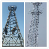 높은 통신 안테나 탑 돛대에 의하여 직류 전기를 통하는 각 강철 탑