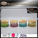 Kleurrijke Kosmetische Kruik PETG met de Plastic Kruik van de Kruik van de Room van de Deksels van het Bamboe