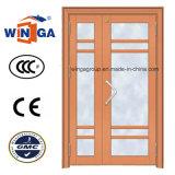 Porte en verre en acier de grande double sécurité électrique de taille (W-GD-25)