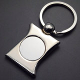 Catena chiave del metallo dello spazio in bianco di modo di vendita e marchio di abitudine (Z-X001)