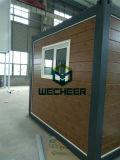 Het houten Huis van de Container van de Sandwich van de Isolatie van de Hitte van de Stijl Comité Geprefabriceerde