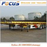 Chaud vendant 2/3/4 remorque à plat de conteneur de véhicule d'essieux avec des essieux de Fuwa