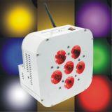 6 10W RGBW 4 em 1 LED Wireless Luz PAR plana da Bateria