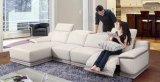 L mobília do sofá do Recliner do couro da forma, mobília moderna da sala de visitas (G17324)