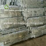 녹색 규암 돌 외부 벽 장식적인 겹쳐 쌓인 돌