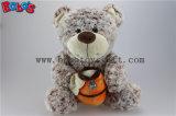 """14.5 """" brinquedos materiais do urso do luxuoso da flor de Brown escuro com o potenciômetro do mel como brinquedos do menino"""