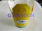 El chino para llevar las cajas de alimentos de papel con asa metálica (NPC-002).