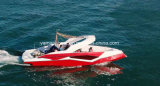Fibra de Parapente Barco com motor Inboard Diesel