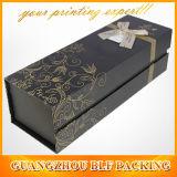 Contenitore di regalo di carta nero del vino