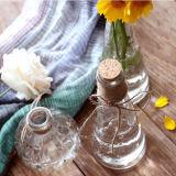 Mltipurpose Kürbis-Glasflasche für Vase und Dekoration mit hölzernem Korken