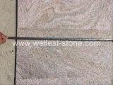 Le mattonelle dentellare naturali della quarzite hanno fiammeggiato la decorazione della parete delle mattonelle del rivestimento murale della quarzite