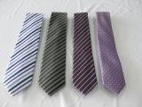 Escala de cor púrpura escura bonitos tecidos Gravatas poliéster