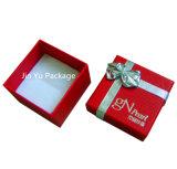 Rectángulo de joyería del regalo del papel de casilla negra de plata y con el Bowknot para la pulsera