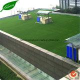 Alfombra artificial de la hierba del césped del cuidado fácil
