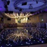 Réception de mariage en plein air de l'éclairage LED plancher de danse de pixel avec effet étoilée