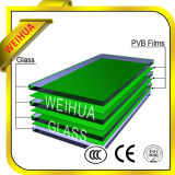 Effacer/ teintée de verre feuilleté mur rideau en verre de construction