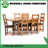 Eichen-hölzerne Möbel-ausdehnbares speisendes Set mit 6 Stühlen (W-DF-9052)