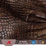 Couro de couro do PVC da alta qualidade do PVC do crocodilo para sacos \ couro do Synthetic assento da sapata \ carro