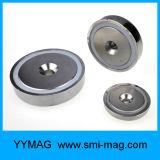 Супер сильный магнит бака удерживания неодимия с зенкованным отверстием