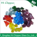 Chip di vetro colorati rossi di terrazzo