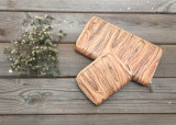 Pochette en bois Wt20 de texture de femmes en cuir d'unité centrale de mode