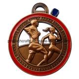 Récompenses en forme de coeur de médailles de modèle avec le traitement doux d'émail