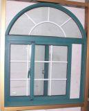 Qualitäts-thermische Bruch-weiße Farben-schiebendes Aluminiumfenster mit Moskito-Netz/Fliegen-Bildschirm
