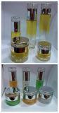 Lotion colorée le flacon en verre et pot de verre (LD-CY)