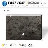 Ficha preta de superfície polida para bancadas de trabalho com pedra de quartzo Artificial