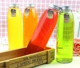 Leere trinkende Glasflasche, Getränkeglasbehälter, Alkohol-Flasche