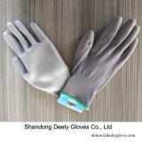 13 вкладыша полиэфира датчика перчатки ладони PU серых серых Coated для предохранения