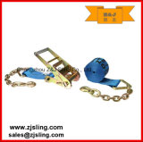 """4 """" X 30' Cinta azul da catraca com extensões Chain"""