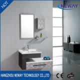 Module de mur simple de salle de bains d'acier inoxydable avec le miroir