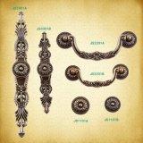 Bouton de poignée européenne classique les poignées de porte de bronze antique
