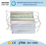 Nichtgewebte gedruckte Gesichtsmaske-medizinische Wegwerfschablone