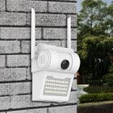 1080p HD цветной широкий угол двора прожектора на крыше настенный светильник Voice Alarm WiFi удаленного приложения в области обнаружения IP для использования вне помещений водонепроницаемая камера