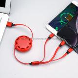 Einziehbares Aufladeeinheits-Kabel USB-3 in-1 als Handy-Zusatzgerät