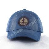 Gorra de béisbol bordada en blanco de algodón pesado