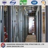 Structure métallique de bâti à pignon léger pour l'entrepôt