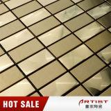 Mosaico di alta classe dell'acciaio inossidabile di colore dell'oro