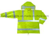 Безопасность PU взрослого отражательная одевая Workwear Hiviz куртки защитного одеяния водоустойчивый