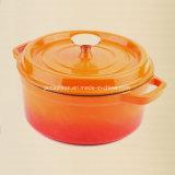 Dia 26cmのエナメルの鋳鉄の煮込むカセロールの鍋のダッチオーブン5.5L