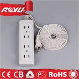 Cordon de prolonge de courant électrique de plat universel de la qualité 220V