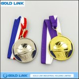 El medallón de encargo del baloncesto de la medalla del metal se divierte la moneda del recuerdo