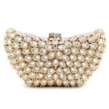 Coroful de lujo de las señoras de noche bolsas de cristal forma de barco de piedra y Rhinestone bolso Leb750