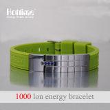 Bracelet d'énergie de vente en gros d'usine de Hottime procurable au logo de laser (20015)