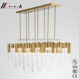 De moderne Eenvoudige Lamp van de Tegenhanger van de Buis van het Glas voor Hotel