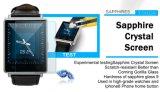 2017 base 1GB 8GB del patio del teléfono Mtk6580 de WiFi 3G Smartwatch del androide 5.1 de la manera D6 con color elegante del negro del teléfono del ritmo cardíaco del GPS 3G SIM Bluetooth