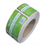 Brillante de alta calidad resistente a la lluvia pegatinas de paquete de Control de Inventario permanente