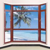 Tipo de alumínio de madeira projeto da cortina da parede de vidro do indicador do Casement para o uso da casa da casa de campo